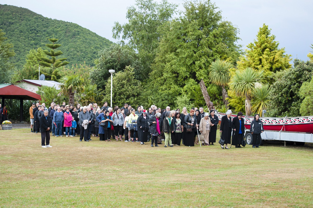 Celebration Weekend Nov 2014  - Te Atiawa ope being welcomed on to Waikawa Marae