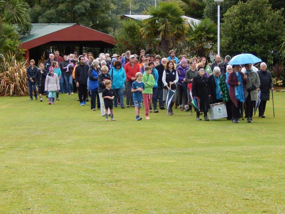 Photo Gallery  - Translocation of Rowi Kiwi to Kaipupu Point-Powhiri at Waikawa Marae_28 May 2016