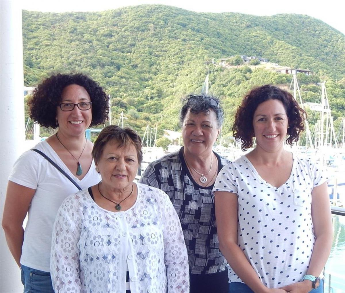 Te Ātiawa Trust Office  - Nau mai ki Whaea Cherie Torepe, from Auckland, & Whaea Sylvia Marina, from Perth, and her daughters, Cherie Glare, from Cairns, and Julianne Lund from Perth