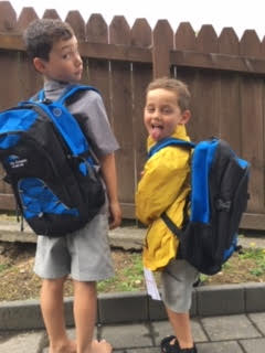 Lachlan and Fletcher Ryan, our latest recipients of our school starter packs