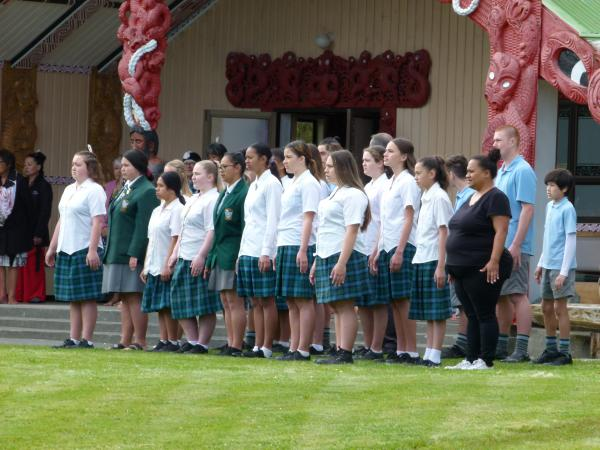 Gallery  - Queen Charlotte College | Our rangatahi doing the haka pōwhiri