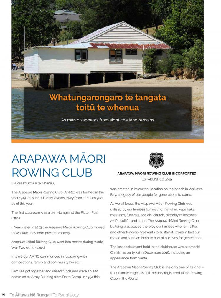 ARAPAWA MĀORI ROWING CLUB
